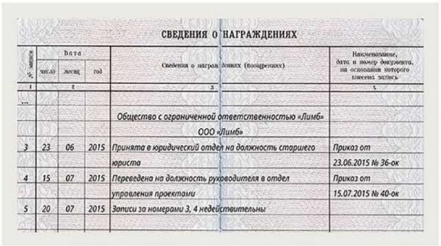Исправление даты увольнения в трудовой книжке: образец, пример в 2020 году