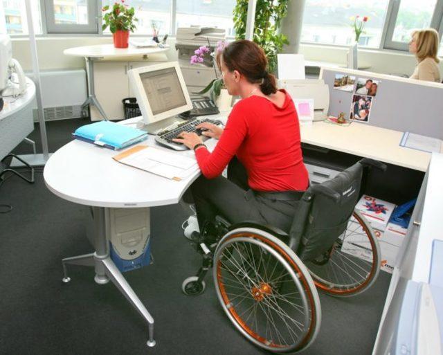Выполнение квоты приема на работу инвалидов